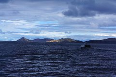 Un nubarrón sobre el Titicaca