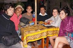 Bebiendo pisco sour con mis couch en Arequipa