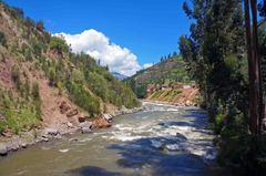 Río Santa, a la entrada de Santa Cruz