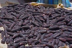 Choclo negro en el mercado de Arequipa