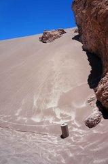 Arena del desierto del Valle de la Luna
