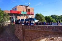 Lado boliviano del paso fronterizo Villazón - La Quiaca