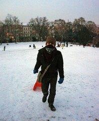 Disfrutando la nieve en Berlín