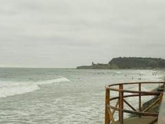 Las playas elegidas por los surfers, en Montañita