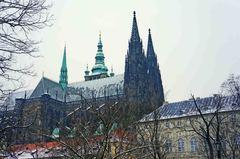 Castillo de Praga desde la entrada norte