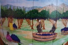 Un mural sobre el vino de Cafayate