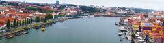 Vista de Oporto y el río Duero desde el Ponte Luis