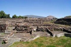 Cimientos de casas de la clase noble en Teotihuacán