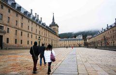 El Monasterio de El Escorial en invierno