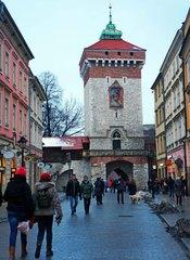 Calles del centro histórico de Cracovia