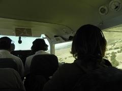 Desde el interior de la avioneta