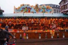 Mercado navideño en la Plaza Römer, Frankfurt