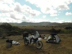 Campamento en los campos bolivianos