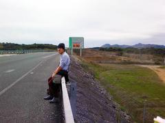 Esperando un ride en Andalucía
