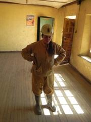 Preparándonos para entrar en la mina
