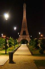 Torre Eiffel en el Parque Europa, Madrid
