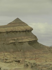 Formas piramidales en Parque Ischigualasto
