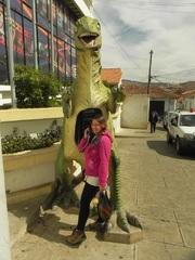 El dinófono en Sucre, Bolivia