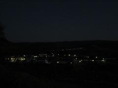 Vista nocturna de Canaleja