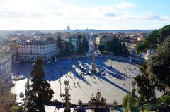 Plaza Popolo desde la Villa Borghese, Roma