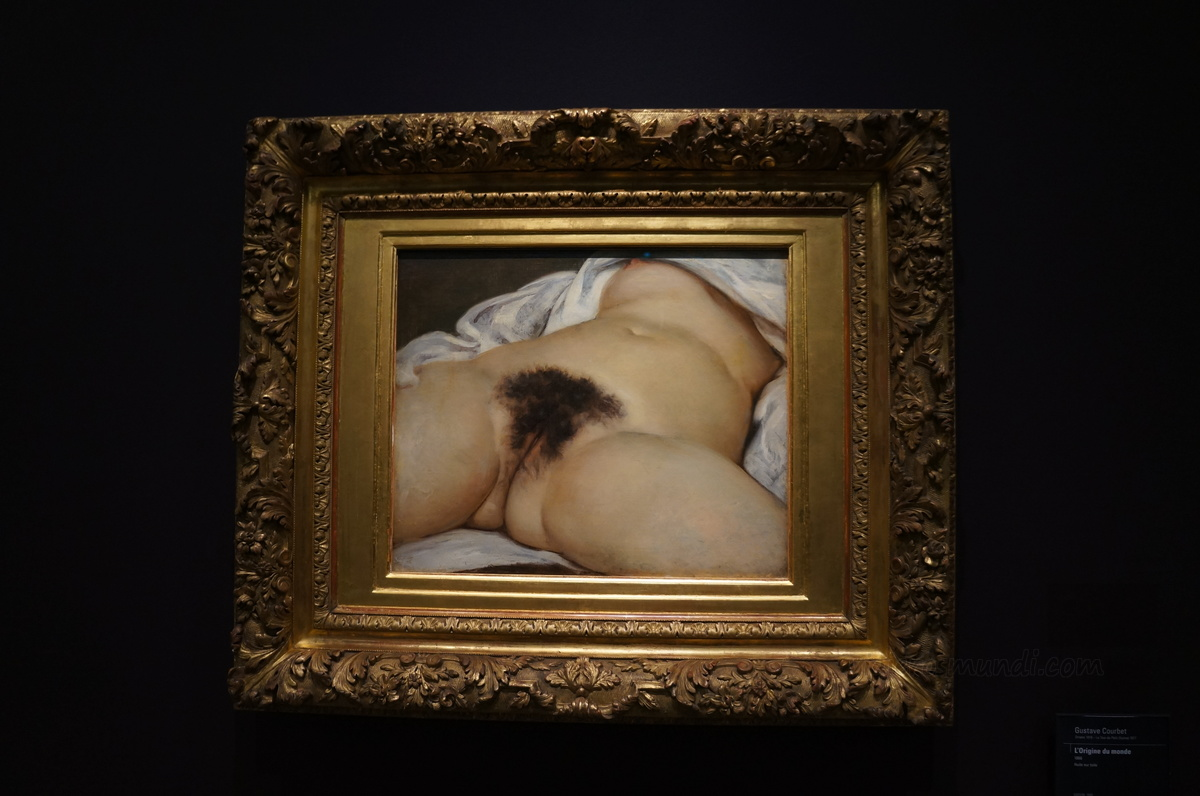 El origen del mundo de Courbet, Museo de Orsay, París