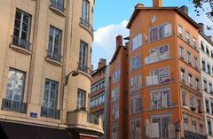 Murales en el centro de Lyon