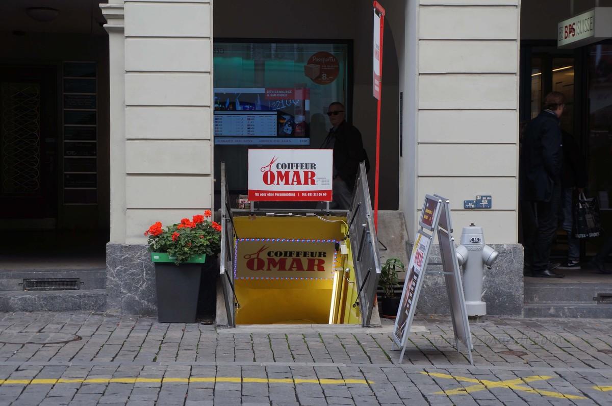 Tiendas subterráneas en Berna
