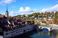 Centro histórico de Berna junto al río Aar