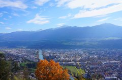 Vista de Innsbruck desde los Alpes