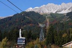Teleférico a Nordkette en los Alpes austriacos