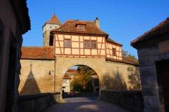 Entrada al casco antiguo de Rothenburg