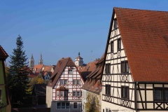 Centro histórico de Rothenburg desde su muralla