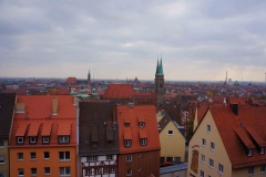 Vista del centro de Núremberg desde su castillo