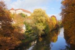 El río Neckar en Tübingen