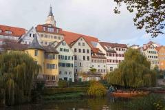 Centro de Tübingen desde el río Neckar