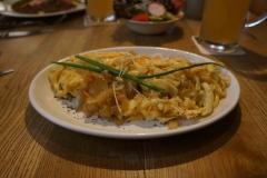 Käsespitzel en un restaurante de Tübingen