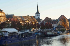 Vista de Estrasburgo al atardecer