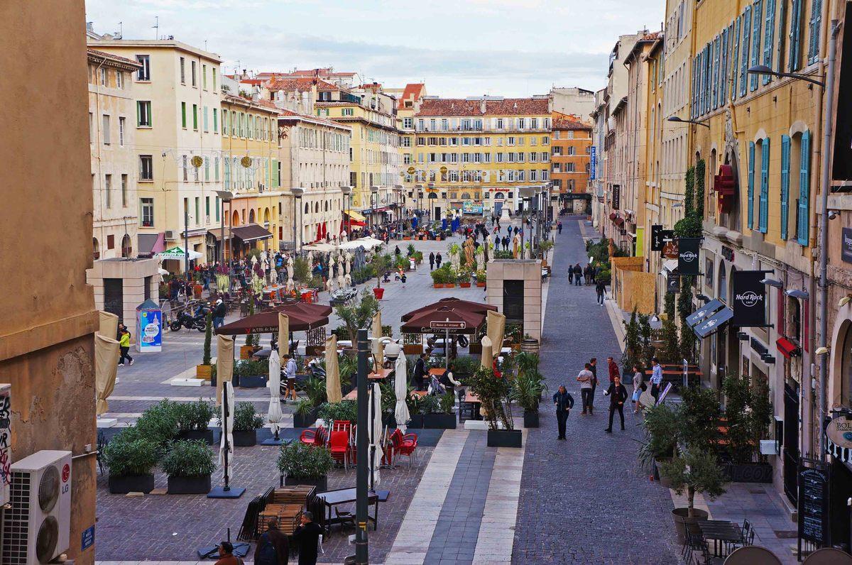 Plaza pública de Marsella