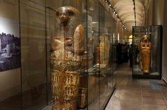 Sarcófagos en el Museo Egipcio de Turín