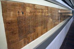 Papiro en el Museo Egipcio de Turín