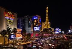Luces en la ciudad de Las Vegas