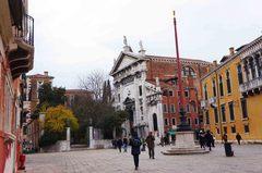 Plaza pública en San Marco, Venecia