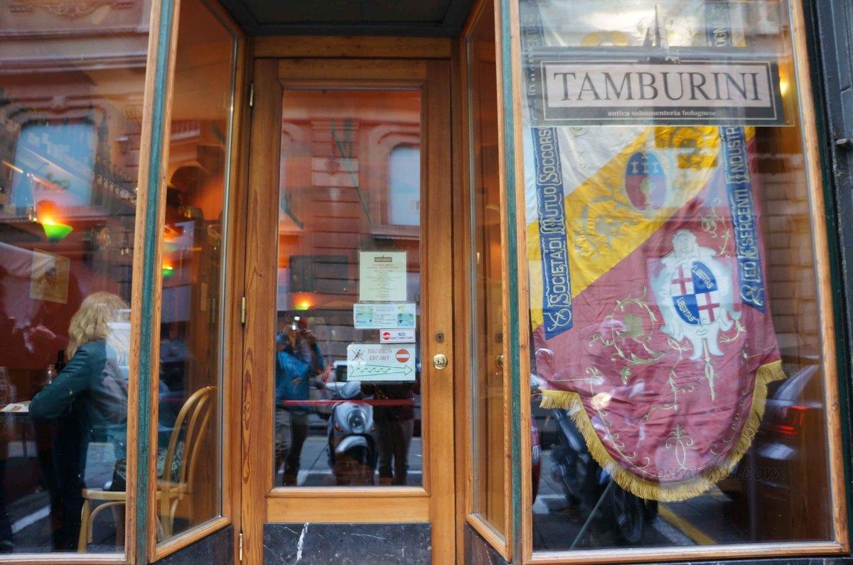 Restaurante de Tamburini en Bolonia