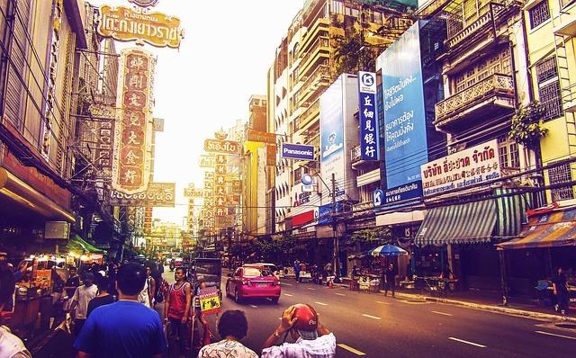 Bangkok calle comercial