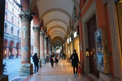 Arcos del centro histórico de Bolonia