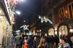 Calles de Nápoles en diciembre