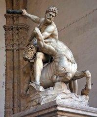 Estatua renacentista en la Loggia della Signoria, Florencia