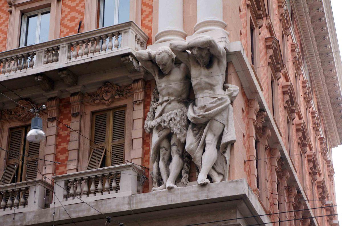 Detalles de la Vía 20 de septiembre en Génova