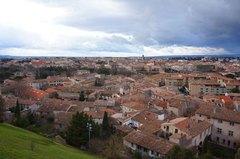 Ciudad baja de Carcassonne, Francia