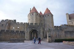 Entrada a la Ciudadela de Carcassonne, Francia